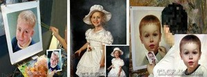 hand painted portrait oil painting on canvas from photograph