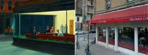 see comparisons then and now photos of famous painting locations