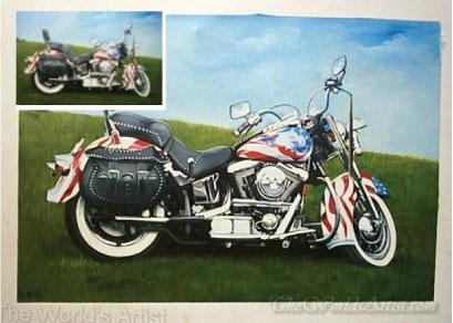 motorcycle art from your photo