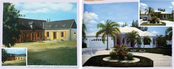 oil paintings from photos for school or business