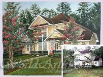 house and flower photos combined into the final artwork of home