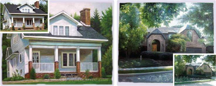custom oil paintings of homes