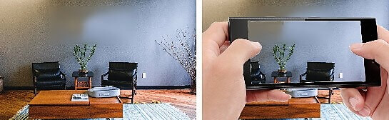 Taking photograph of a wall in your house
