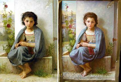 Original painting Adolphe-William Bouguereau La Tricoteuse the Little Knitter art replicas