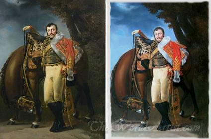 Original and copy painting side by side