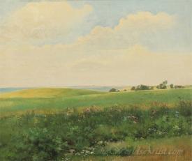 Sommerlandskab Med Bolgende Marker  (Summer Landscape With Surging Select)