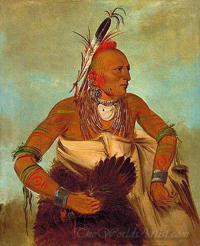 Osage Warrior Of The Wha Sha She Band A Subdivision Of Hunkah