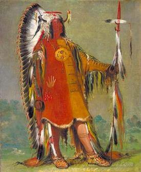 Mah To Toh Pa Four Bears Second Chief In Full Dress