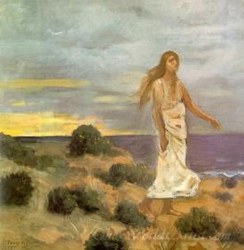 Mad Woman At The Edge Of The Sea
