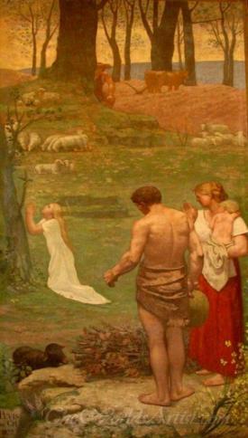 Saint Genoveva As A Child In Prayer