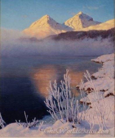 Mountainous Lake Scene