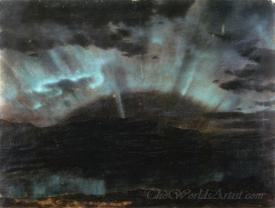 Aurora Borealis Mt Desert Island From Bar Harbor Maine