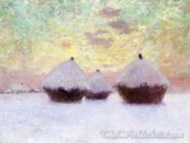 Haystacks In The Snow