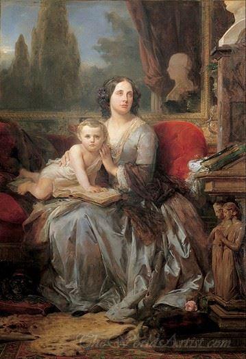 Maria Brignole Sale Duchess Of Galliera With Her Son Filippo