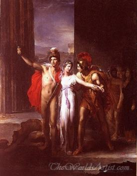 Helen Rescued By Castor And Pollux