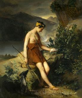 Jeune Chasseresse Deplorant L Innocente Victime De Son Adresse  (Deploring The Huntress Young Innocent Victim Of Its Address)