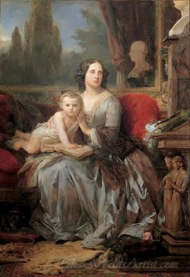 Maria Brignole Sale Duchess Of Galliera With Her Son Filippo