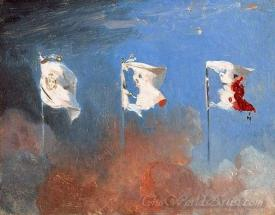 Scene De Juillet 1830 Les Drapeaux  (Scene July 1830 The Flags)