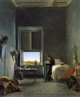 The Artist In His Room At The Villa Medici Rome