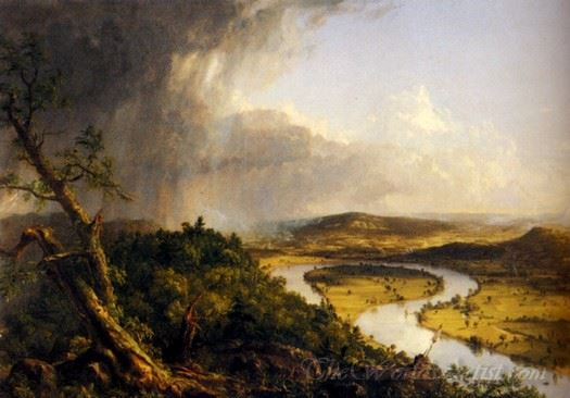 View From Mount Holyoke Northampton After A Thunderstorm The Oxbow