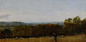 A Shepherd Looking Across Dedham Vale Towards Langham