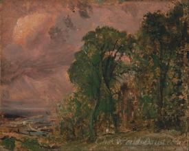 A View At Hampstead With Stormy Weather