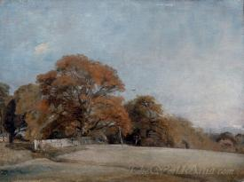 An Autumnal Landscape At East Bergholt