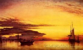 Sunset On The Lagoon Of Venice