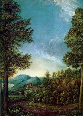 Danube Landscape With Worth Castle