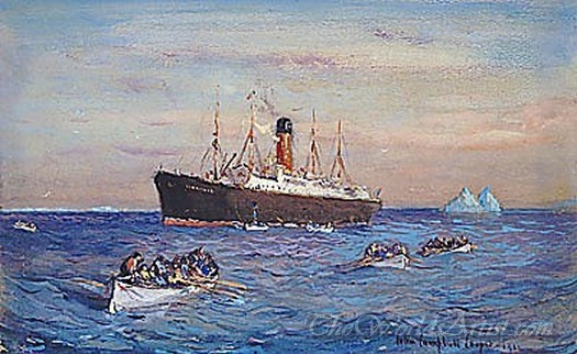 Rescue Of The Survivors Of The Titanic By The Carpathia