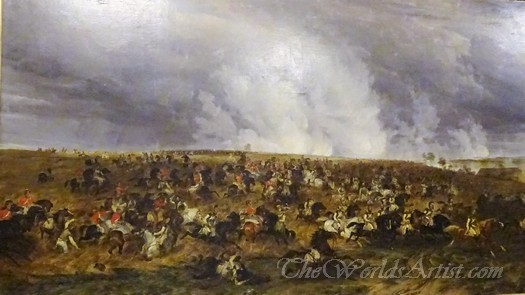 The Defeat Of Kellermanns Cuirassiers And Carabiniers By Somersets Cavalry Brigade At Waterloo