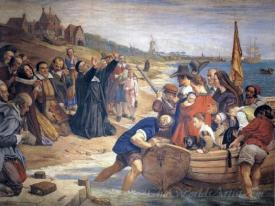 The Embarkation Of The Pilgrim Fathers For New England