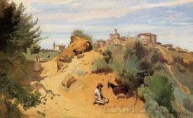 Genzano Goatherd And Village
