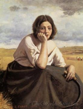 Harvester Holding Her Sickle