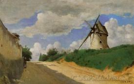 Windmill On The Cote De Picardie Near Versailles