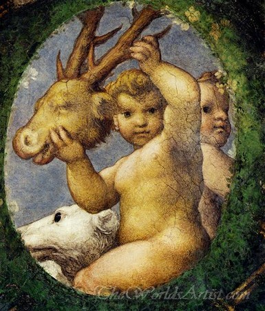 Putto With Hunting Trophy