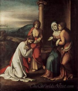 Goodbye Christ With Mary And Martha The Sister Of Lazarus