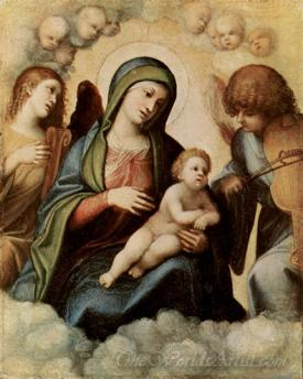 Madonna With Musizierenden Angels