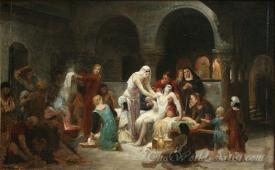 Sainte Elisabeth De Hongrie Soignant Les Malades  (Holy Elisabeth Of Hungary Caring For The Sick)