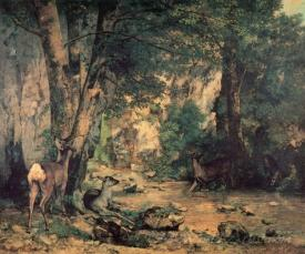 Deer At The Stream Of Plaisir Fountaine