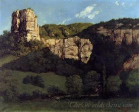 Bald Rock In The Valley Of Ornans