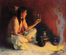 Taos Indian And Pottery
