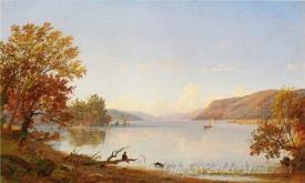 Artist Sketching On Greenwood Lake