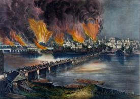 The Fall Of Richmond Va On The Night Of April 2