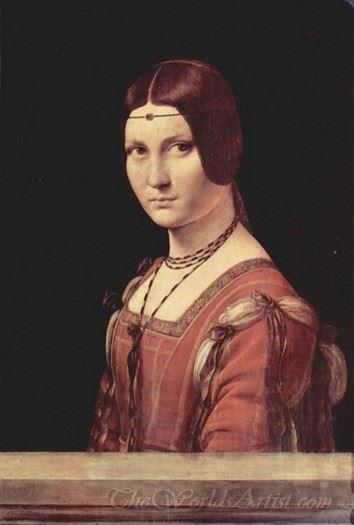 Portrait Of A Lady Called La Belle Ferronniere