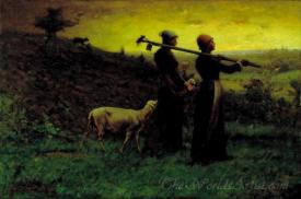 Bringing Home The New Born Lamb