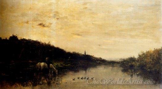 Chevaux Au Bord De L Oise  (Horses At The Edge Of L Oise)