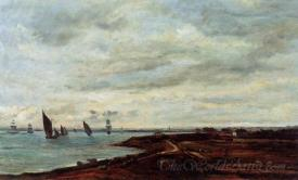 The Banks Of The Thames At Eames