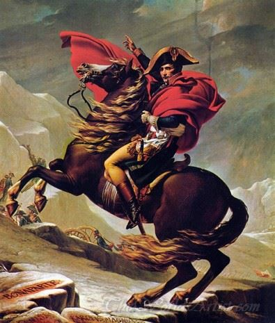 Napoleon Crossing The Alps-1