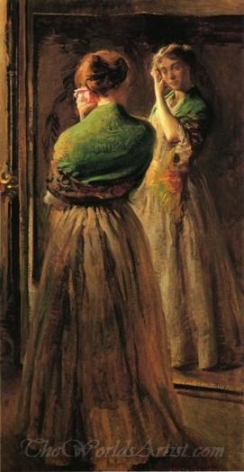 Girl With A Green Shawl